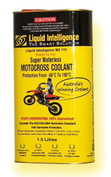 Liquid Intelligence 115 Motorcycle Super Waterless Coolant - Guaranteed No Overheating