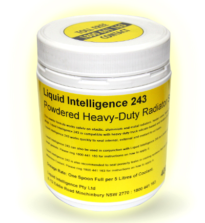 Liquid Intelligence 243 Fixes Leaks In Cooling Systems And Radiators Guaranteed.