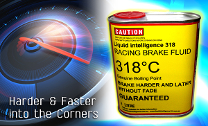 Liquid Intelligence 318 Racing Brake Fluid For Extreme Braking Motorsports