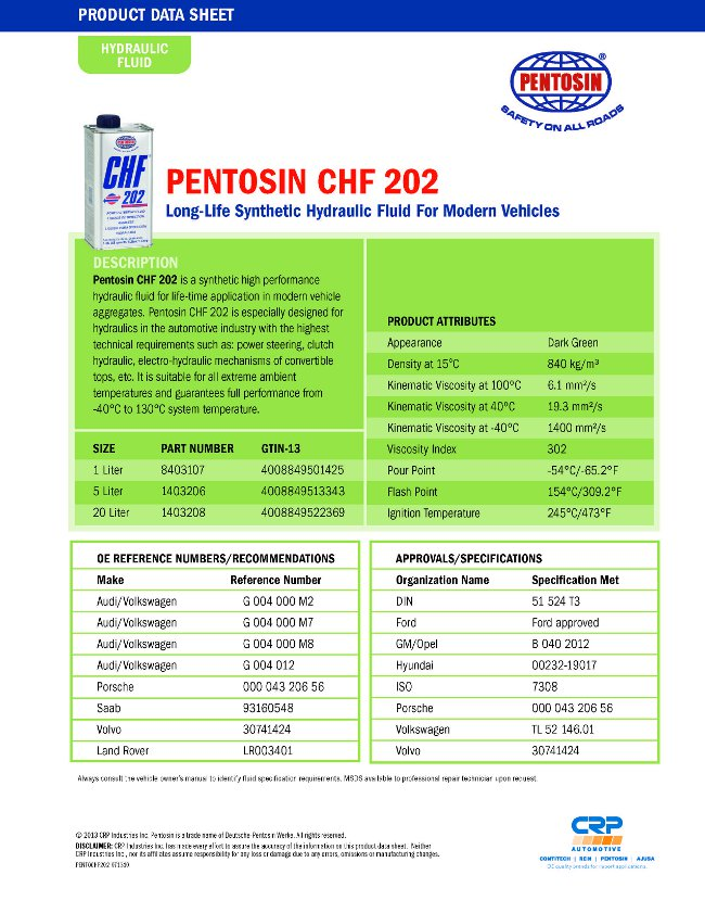 pentosin hydraulic fluid australia