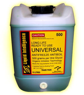 Liquid Intelligence 500 Compatible With All Green Coolants For Top Ups Or Complete Fills